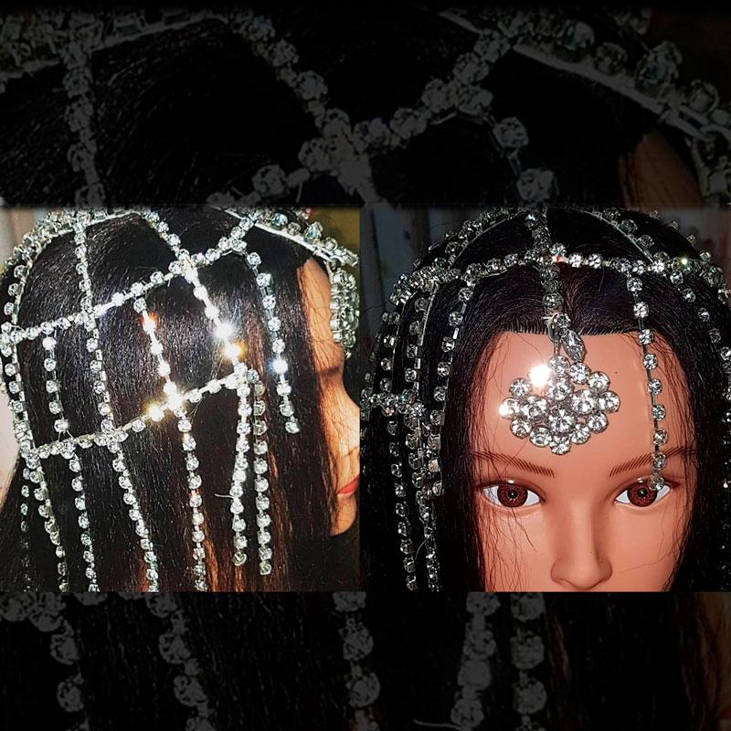 Tocado de cristales artesanal